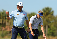 Lee Westwood (ENG) and Luke Donald (ENG) during the final round of the Honda Classic, PGA National, Palm Beach Gardens, West Palm Beach, Florida, USA. 1/03/2020.<br /> Picture: Golffile | Scott Halleran<br /> <br /> <br /> All photo usage must carry mandatory copyright credit (© Golffile | Scott Halleran)