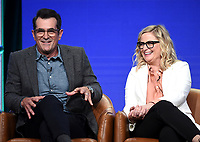 2019 FOX SUMMER TCA: (L-R): DUNCANVILLE Cast member Ty Burrell and cast member/Co-Creator/Writer/Executive Producer Amy Poehler during the ANIMATION DOMINATION: BLESS THE HARTS/DUNCANVILLE panel at the 2019 FOX SUMMER TCA at the Beverly Hilton Hotel, Wednesday, Aug. 7 in Beverly Hills, CA. CR: Frank Micelotta/FOX/PictureGroup