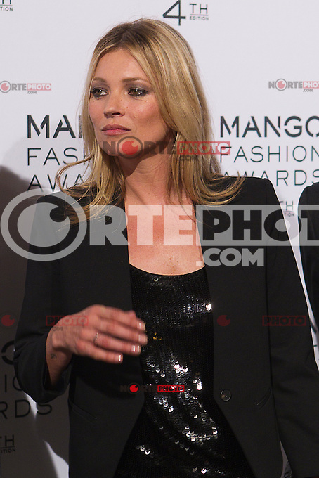 Model Kate Moss attends the Mango Fashion Awards,  Barcelona Spain, May 30, 2012.
