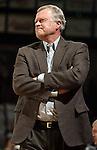 SIOUX FALLS, SD - DECEMBER 8:  Augustana Women's basketball coach Dave Krauth.  (Photo by Dave Eggen/Inertia)