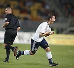 Shasun Maloney celebrates his winning goal for Scotland
