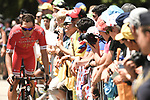 Julien Simon (FRA) Cofidis arrives at sign on before the start of Stage 11 of the 2018 Tour de France running 108.5km from Albertville to La Rosiere Espace San Bernardo, France. 18th July 2018. <br /> Picture: ASO/Pauline Ballet | Cyclefile<br /> All photos usage must carry mandatory copyright credit (&copy; Cyclefile | ASO/Pauline Ballet)