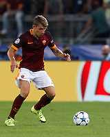 Calcio, Champions League, Gruppo E: Roma vs Barcellona. Roma, stadio Olimpico, 16 settembre 2015.<br /> Roma&rsquo;s Lucas Digne in action during a Champions League, Group E football match between Roma and FC Barcelona, at Rome's Olympic stadium, 16 September 2015.<br /> UPDATE IMAGES PRESS/Riccardo De Luca<br /> <br /> *** ITALY AND GERMANY OUT ***