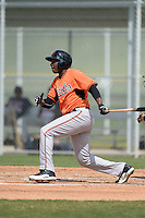 First baseman Randolph Gassaway (87) of the Baltimore Orioles organization during a minor league spring training game against the Minnesota Twins on March 20, 2014 at Buck O'Neil Complex in Sarasota, Florida.  (Mike Janes/Four Seam Images)