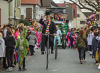 Büttelborn 03.03.2019: Rosensonntagsumzug<br /> Historische Fahrräder auf der Strecke<br /> Foto: Vollformat/Marc Schüler, Schäfergasse 5, 65428 R'eim, Fon 0151/11654988, Bankverbindung KSKGG BLZ. 50852553 , KTO. 16003352. Alle Honorare zzgl. 7% MwSt.
