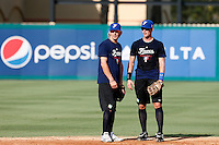 18 September 2012: France Luc Piquet and Emmanuel Garcia are seen during Team France practice, at the 2012 World Baseball Classic Qualifier round, in Jupiter, Florida, USA.