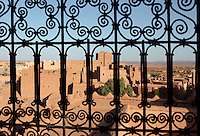 Old town of Ouarzazate seen from window of Kasbah Taourirt, Ouarzazate province, Morocco. Picture by Manuel Cohen