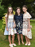 Hazel Martin, Rachel McCloskey and Hannah Fenelon who were confirmed at The Church of the Immaculate Conception Termonfeckin. Photo:Colin Bell/pressphotos.ie