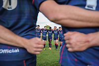 London Scottish players following the Greene King IPA Championship match between London Scottish Football Club and Nottingham Rugby at Richmond Athletic Ground, Richmond, United Kingdom on 15 April 2017. Photo by David Horn.