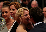 """72nd edition of the Cannes Film Festival in Cannes in Cannes, southern France on January 5, 2019. - Day 11 - Red carpet for the screening of the film """"Sibyl"""" ,  Virginie Efira and French-Canadian actor Niels Schneider<br /> © Pierre Teyssot / Maxppp"""