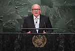 His Excellency Frans Timmermans, First Vice-President of the European Union  <br /> General Assembly Seventieth session 9th plenary meeting: High-level plenary meeting of the (6th meeting)