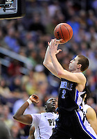 The Bulldogs' Matthe Dickey gets off a short jumper. Pittsburgh defeated UNC-Asheville 74-51 during the NCAA tournament at the Verizon Center in Washington, D.C. on Thursday, March 17, 2011. Alan P. Santos/DC Sports Box
