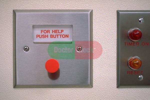 emergency help button on hospital wall