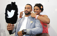NEW ORLEANS, LA - JULY 2, 2016 Omari Hardwick & Kimberly Elise backstage at the Essence Festival, July 2, 2016 at The New Orleans Convention Center in New Orleans Louisiana. Photo Credit: Walik Goshorn / Media Punch
