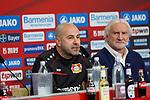 04.01.2019, BayArena, Leverkusen, GER, 1. FBL,  Bayer 04 Leverkusen PK Trainerwechsel,<br />  <br /> DFL regulations prohibit any use of photographs as image sequences and/or quasi-video<br /> <br /> im Bild / picture shows: <br /> erste Pressekonferenz von Peter Bosz Trainer / Headcoach (Bayer 04 Leverkusen), re Rudi V&ouml;ller/ Voeller Geschaeftsfuehrer Sport (Bayer 04 Leverkusen), <br /> <br /> Foto &copy; nordphoto / Meuter