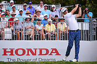 Morgan Hoffman (USA) watches his tee shot on 1 during round 3 of the Honda Classic, PGA National, Palm Beach Gardens, West Palm Beach, Florida, USA. 2/25/2017.<br /> Picture: Golffile | Ken Murray<br /> <br /> <br /> All photo usage must carry mandatory copyright credit (&copy; Golffile | Ken Murray)