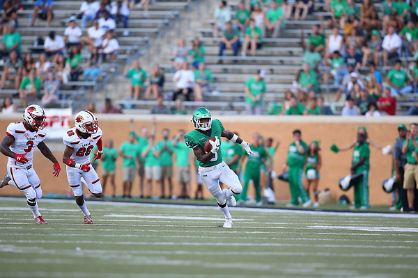 DENTON TEXAS: University of North Texas Mean Green Football v Lamar University on September 2, 2017 at Apogee Stadium in Denton TX. (Photo Rick Yeatts)