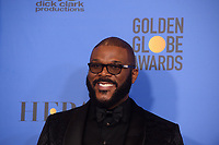 Tyler Perry poses backstage in the press room with her Golden Globe Award at the 76th Annual Golden Globe Awards at the Beverly Hilton in Beverly Hills, CA on Sunday, January 6, 2019.<br /> *Editorial Use Only*<br /> CAP/PLF/HFPA<br /> Image supplied by Capital Pictures