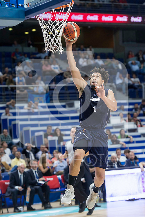 Donar Groningen Sean Cunningham during Basketball Champions League match between Movistar Estudiantes and Donar Groningen at Wizink Center in Madrid, Spain October 02, 2017. (ALTERPHOTOS/Borja B.Hojas)
