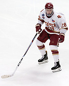Adam Plant (DU - 28) - The University of Denver Pioneers defeated the University of Minnesota Duluth Bulldogs 3-2 to win the national championship on Saturday, April 8, 2017, at the United Center in Chicago, Illinois.