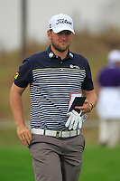 Bernd Wiesberger (AUT) walks off the 11th tee during Friday's Round 2 of the 2014 BMW Masters held at Lake Malaren, Shanghai, China 31st October 2014.<br /> Picture: Eoin Clarke www.golffile.ie
