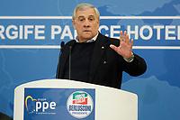 Antonio Tajani, president of the European Parliament<br /> Rome December 7th 2018. Convention of Forza Italia center-right party.<br /> Foto Samantha Zucchi Insidefoto