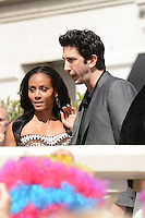 Jada Pinkett Smith and David Schwimmer attending the Madagaskar III photocall at Carlton hotel during Cannes International Film Festival in Cannes, France, 17.05.2012..Credit: Timm/face to face /MediaPunch Inc. ***FOR USA ONLY***
