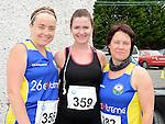 Sandra Duffy, Carrie Moonan and Sarah Quinn who ran the Newtown Blues 12.5K run. Photo:Colin Bell/pressphotos.ie