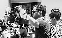 CIUDAD DE MÉXICO, julio 31, 2016. Acto en Jalapa, Veracruz en  conmemoración al asesinato de Rubén Espinosa, Nadia Vera, Yesenia Quiroz, Mile Virginia y Alejandra Negrete en la colonia Narvarte, el 31 de julio de 2016. FOTO: ALEJANDRO MELÉNDEZ