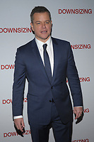 NEW YORK, NY - December 11: Matt Damon attends the 'Downsizing' New York screening at AMC Lincoln Square Theater on December 11, 2017 in New York City.Credit: John Palmer/MediaPunch /nortephoto.com NORTEPHOTOMEXICO