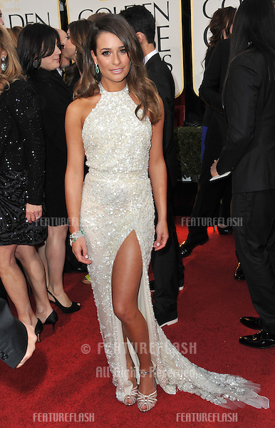 Lea Michele at the 70th Golden Globe Awards at the Beverly Hilton Hotel..January 13, 2013  Beverly Hills, CA.Picture: Paul Smith / Featureflash