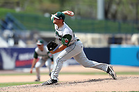 Fort Wayne TinCaps pitcher David Bednar (24) delivers a pitch to the plate against the West Michigan Michigan Whitecaps during the Midwest League baseball game on April 26, 2017 at Fifth Third Ballpark in Comstock Park, Michigan. West Michigan defeated Fort Wayne 8-2. (Andrew Woolley/Four Seam Images via AP Images)