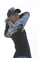 Evan Shipp (Headfort) on the 14th tee during the Final round in the Connacht U16 Boys Open 2018 at the Gort Golf Club, Gort, Galway, Ireland on Wednesday 8th August 2018.<br /> Picture: Thos Caffrey / Golffile<br /> <br /> All photo usage must carry mandatory copyright credit (&copy; Golffile | Thos Caffrey)