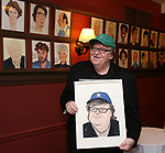 Michael Moore during the Michael Moore And Michael Mayer portrait unveilings as the join the Wall of Fame at Sardi's on September 21, 2017 at Sardi's in New York City.