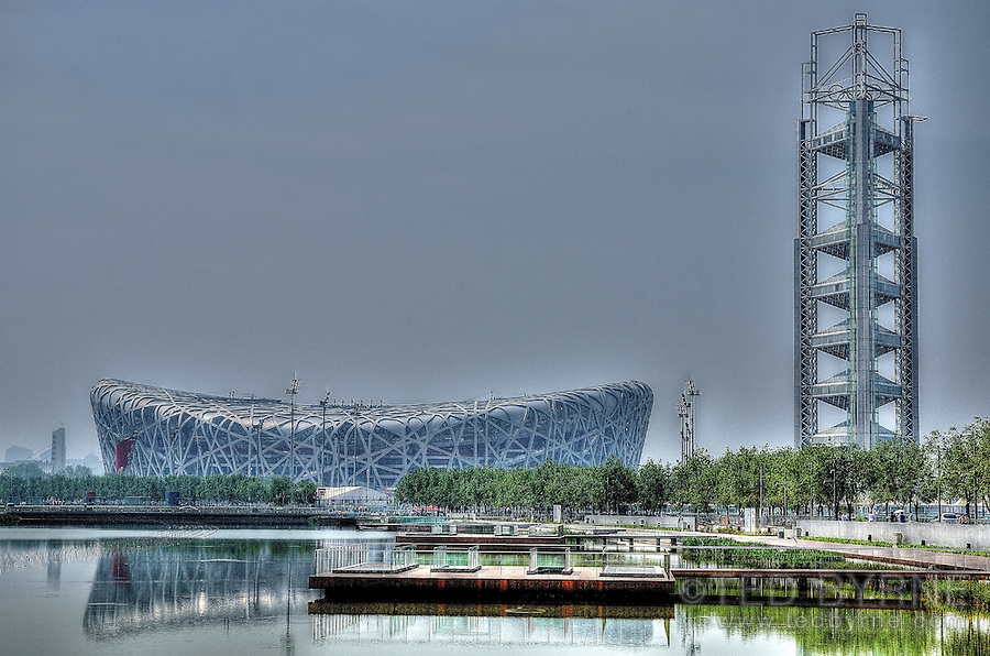 Beijing National Stadium - Bird's Nest Olympic Stadium in Beijing China