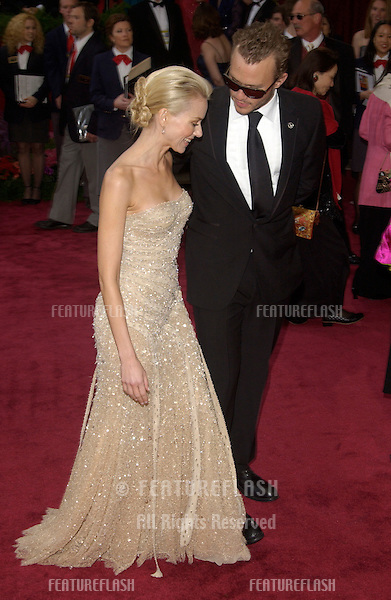 NAOMI WATTS & HEATH LEDGER at the 76th Annual Academy Awards in Hollywood..February 29, 2004