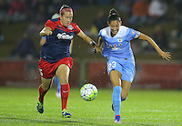 Boyds, MD - Friday Sept. 30, 2016: Whitney Church, Christen Press during a National Women's Soccer League (NWSL) semi-finals match between the Washington Spirit and the Chicago Red Stars at Maureen Hendricks Field, Maryland SoccerPlex. The Washington Spirit won 2-1 in overtime.