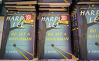 "Stacks of copies of ""Go Set a Watchman"" by Harper Lee in a Barnes & Noble bookstore in New York on Tuesday, July 14, 2015. The famed Pulitzer Prize winning author Harper Lee's  second novel, ""Go Set A Watchman"" is a sequel to ""To Kill a Mockingbird"" published 50 years ago. Watchman was actually written prior to Mockingbird and was recently found after being thought lost. (© Richard B. Levine)"