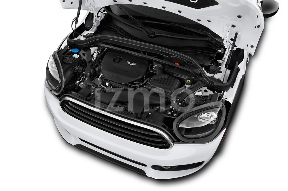 Car Stock 2019 MINI Countryman 5-Door 5 Door Hatchback Engine  high angle detail view