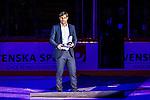 Stockholm 2014-05-03 Ishockey Oddset Hockey Games  Sverige - Finland :  <br /> Markus N&auml;slund f&ouml;r ta emot utm&auml;rkelse innan matchen i samband med att han v&auml;ljs in i Hockey Hall of Fame<br /> (Foto: Kenta J&ouml;nsson) Nyckelord:  Oddset Hockey Games Sverige Swe Tre Kronor Finland Fin Globen Ericsson Globe Arena portr&auml;tt portrait