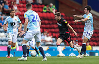 Bolton Wanderers' Joe Williams competing with Blackburn Rovers' Lewis Travis, Darragh Lenihan and Jack Rodwell <br /> <br /> Photographer Andrew Kearns/CameraSport<br /> <br /> The EFL Sky Bet Championship - Blackburn Rovers v Bolton Wanderers - Monday 22nd April 2019 - Ewood Park - Blackburn<br /> <br /> World Copyright © 2019 CameraSport. All rights reserved. 43 Linden Ave. Countesthorpe. Leicester. England. LE8 5PG - Tel: +44 (0) 116 277 4147 - admin@camerasport.com - www.camerasport.com