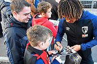 Nathan Ake of AFC Bournemouth signs an autograph during AFC Bournemouth vs Manchester United, Premier League Football at the Vitality Stadium on 3rd November 2018