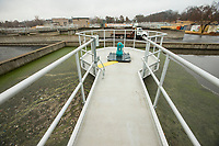 NWA Democrat-Gazette/BEN GOFF @NWABENGOFF<br /> A view of one biological nutrient reduction train Thursday, Nov. 21, 2019, at the Rogers wastewater treatment plant. The facility has three 'BNR' trains, and this photo shows one where the renovations have been completed.