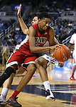 UNLV's Christian Wood (5) gets fouled by Nevada's Kaileb Rodriguez (5) during a college basketball game in Reno, Nev., on Tuesday, Jan. 27, 2015. The Rebels won 67-62. (Las Vegas Review-Journal/Cathleen Allison)