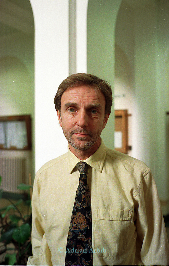 Dr Colin Blakemore at Oxford university after hearing the  announcement,  issued today (2/12/98),  by the Animal Rights Militia that he is one of 10 people involved in animal experiments that they intend to assasinate if hunger striker Barry Horne dies.