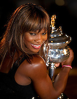 Serena Williams with the Australian Open Women's Trophy after beating Justine Henin..International Tennis - Australian Open Tennis - Sat 30  Jan 2010 - Melbourne Park - Melbourne - Australia ..© Frey - AMN Images, 1st Floor, Barry House, 20-22 Worple Road, London, SW19 4DH.Tel - +44 20 8947 0100.mfrey@advantagemedianet.com