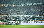 Solna 2015-10-04 Fotboll Allsvenskan AIK - Malm&ouml; FF :  <br /> AIK:s supportrar med banderoll banderoll med texten &quot; Vore Snapphanarna b&auml;ttre p&aring; att sl&aring;ss skulle Sk&aring;ne inte tillh&ouml;ra oss! &quot; under matchen mellan AIK och Malm&ouml; FF <br /> (Foto: Kenta J&ouml;nsson) Nyckelord:  AIK Gnaget Friends Arena Allsvenskan Malm&ouml; MFF supporter fans publik supporters