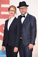 directors, Valerie Faris and husband, Jonathan Drayton<br /> arriving for the London Film Festival 2017 screening of &quot;Battle of the Sexes&quot; at the Odeon Leicester Square, London<br /> <br /> <br /> &copy;Ash Knotek  D3322  07/10/2017