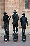 Street statues, Cartagena de Indias, Bolivar Department, Colombia, South America.