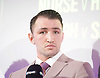 Hughie Fury <br /> <br /> Frank Warren Boxing Promoter and BT Sport Press Conference at BT Tower London Great Britain <br /> <br /> 23rd January 2017 <br /> <br /> Frank Warren introduces Boxers who will be taking part in tournaments during 2017. <br /> He talks to Hughie Fury who plans to win back Tyson Fury&rsquo;s world title<br /> Negotiations are underway for him to challenge WBO heavyweight champion Joseph Parker<br /> <br /> Rolex watch <br /> <br /> Photograph by Elliott Franks <br /> Image licensed to Elliott Franks Photography Services